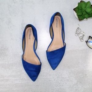 J.Crew Sloan Suede d'Orsay Blue Flats